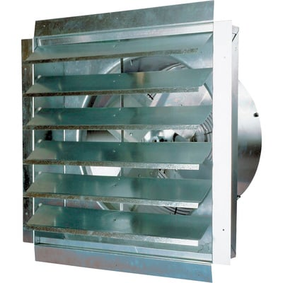 """MaxxAir Ventamatic Exhaust Fan - 3000 CFM, Includes Shutter, Model# IF18"""