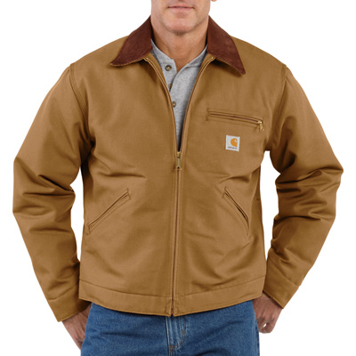 Carhartt Men's Duck Detroit Blanket-Lined Jacket - Brown, 2XL Tall, Model# J001
