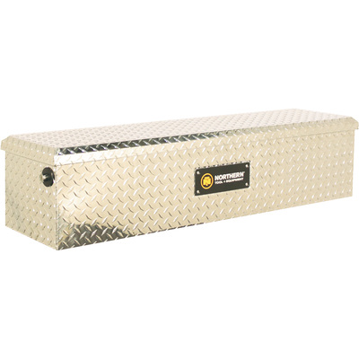 Northern Tool + Equipment Flush Mount Truck Tool Box — Diamond Plate Aluminum, 48.5in.