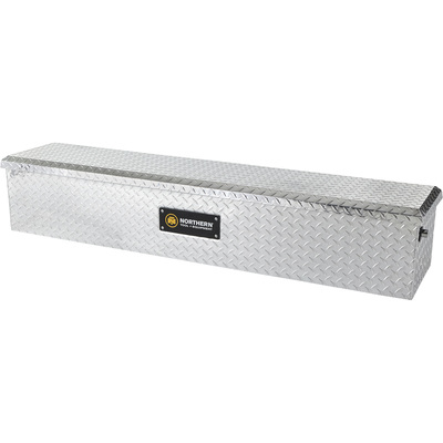 Northern Tool + Equipment Flush Mount Truck Tool Box — Diamond Plate Aluminum, 60.5in.