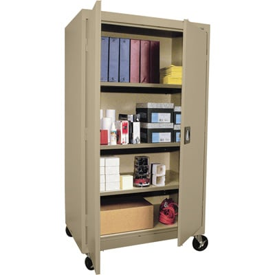 Sandusky Lee Heavy-Duty Welded Steel Mobile Cabinet — 36in.W x 24in.D x 66in.H