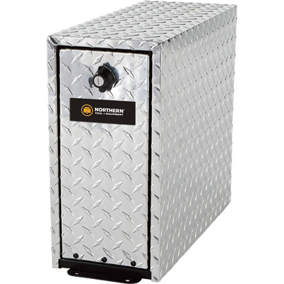 Northern Tool + Equipment 5-Drawer Tool Box Tower — Diamond Plate Aluminum, 18in.