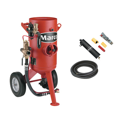 FREE SHIPPING — Marco Abrasive Blaster — 300-Lb. Capacity, 3.0 Cu. Ft. Model# 10POTPACKAGE3NT1