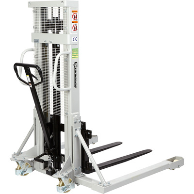 Strongway Manual Pallet Stacker — 2200-Lb. Capacity, 98in. Max. Lift
