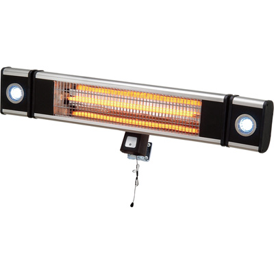 Profusion Heat Wall-Mount Indoor/Outdoor Heater with LED Lights — 5100 BTU, Model# ANH15CWL