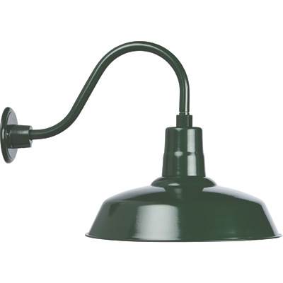 Strongway Multi-Mount Barn Light — 16in. Dia., Forest Green, 200 Watts, Model# 23201091-GS