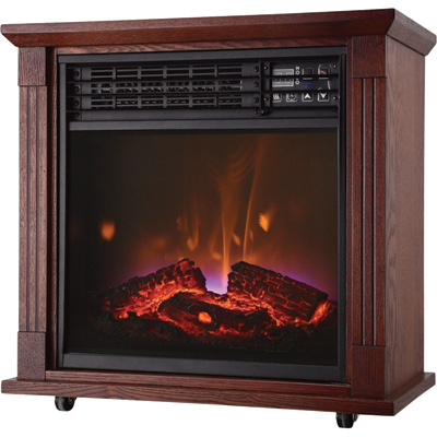 ProFusion Heat Infrared Fireplace with Real Flame Effect — 5,180 BTU, Model# FP404R-Q