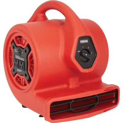 Ironton Mini Blower with Built-In Outlet — 1/8 HP