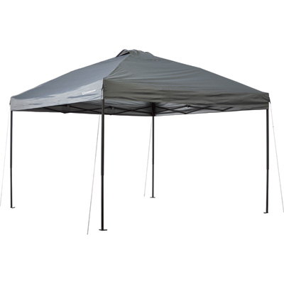 Strongway Pop-Up Outdoor Canopy Tent — 12ft. x 12ft., Open Top, Straight Leg, Cool Gray