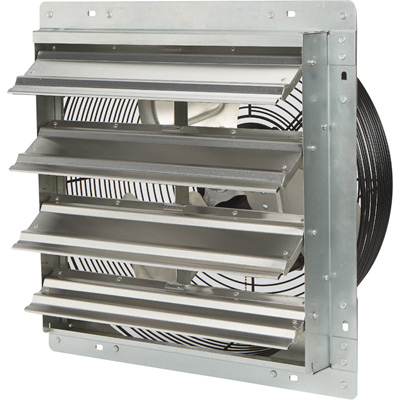 Strongway Totally Enclosed Direct Drive Shutter Exhaust Fan — 16in., 3-Speed, 2,100/1,910/1,790 CFM