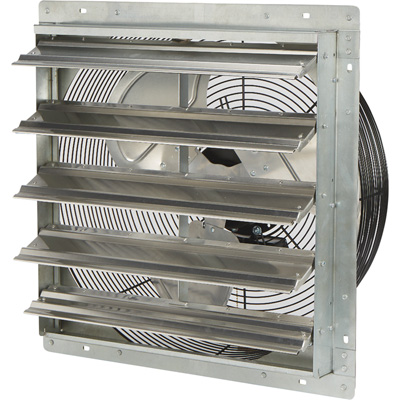 Strongway Totally Enclosed Direct Drive Shutter Exhaust Fan — 20in., 2-Speed, 2,930/2,465 CFM