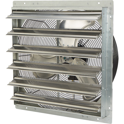Strongway Totally Enclosed Direct Drive Shutter Exhaust Fan — 24in., 2-Speed, 3450/2893 CFM