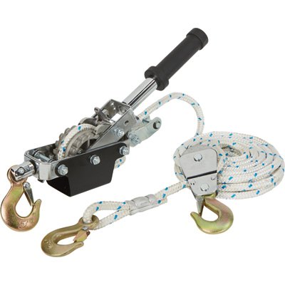 Ironton 1-Ton Rope Puller with 3 Hooks