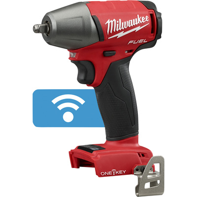 FREE SHIPPING — Milwaukee M18 FUEL Cordless Impact Wrench with ONE-KEY — 3/8in. Drive with Friction Ring, 210 Ft.-Lbs. Torque, Tool Only, Model# 2758-20