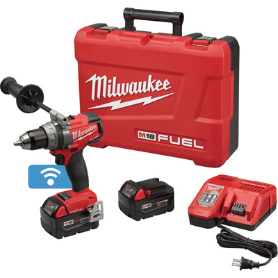FREE SHIPPING — Milwaukee M18 FUEL Li-Ion Cordless Electric Drill/Driver Kit with ONE-KEY — With 2 Batteries, 1/2in. Keyless Chuck, 2000 RPM, Model# 2705-22