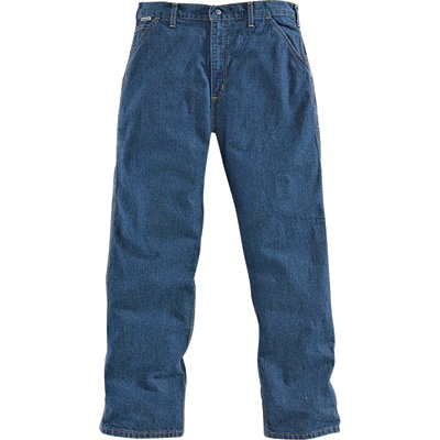 Carhartt Men's Flame-Resistant Denim Dungaree - 40in. Waist x 30in. Inseam, Model# FRB13