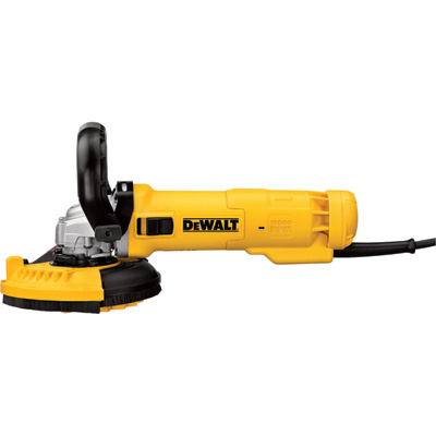 FREE SHIPPING — DEWALT 4 1/2in. Small Angle Grinder with Surface Shroud Kit — 11 Amp, Slide Switch, Model# DWE46153