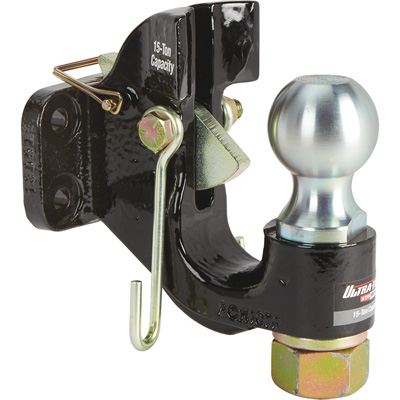 Ultra-Tow XTP Auto-Locking Dual-Purpose Pintle Hitch — 2 5/16in. Ball, 15-Ton Capacity (Lunette), 7-Ton Capacity (Coupler)