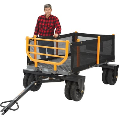 FREE SHIPPING — Bannon 3-in-1 Convertible Logging Wagon — 1,800-Lb. Capacity, 36 Cu. Ft.
