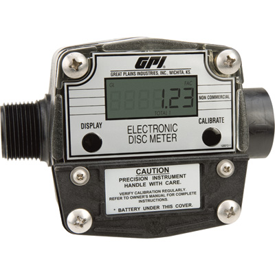 FREE SHIPPING — GPI Chemical Meter — 2 to 20 GPM, 1in. Inlet/Outlet, Model# FM-300H-G8N