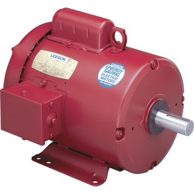 Leeson Farm Duty Electric Motor 5.0 HP, 1,740 RPM, 230 Volts, Single Phase, Model# P184K17FB16