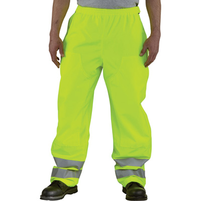 Carhartt Men's Class 3 High Visibility Waterproof Pants — Lime, 2XL/Tall Style, Model# 100497