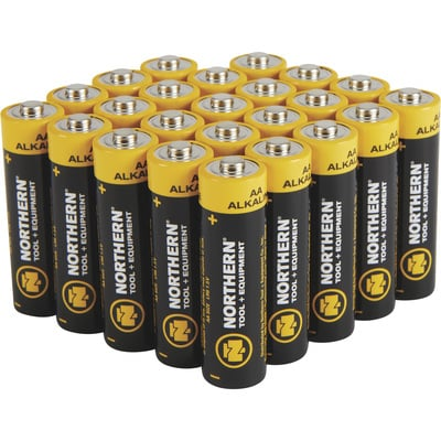 Northern Tool + Equipment AA Alkaline Batteries — 24-Pk.