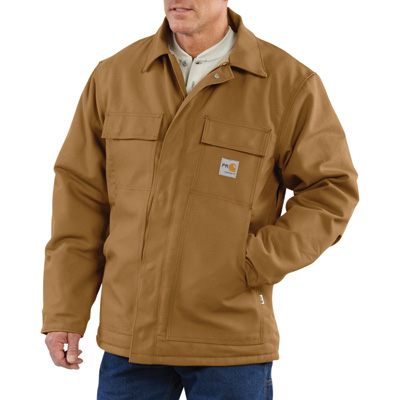 Carhartt Men's Flame-Resistant Duck Traditional Coat - Brown, 4XL/Big Style, Model# 101618-001