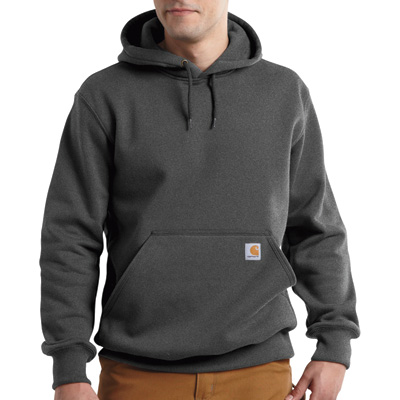 Carhartt Men's Paxton Heavyweight Hooded Sweatshirt - Carbon Heather, Medium, Model# 100615