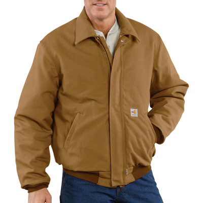 Carhartt Men's Flame-Resistant Duck Bomber Jacket - Brown, Small, Model# 101623