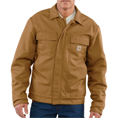 Carhartt Men's Flame-Resistant Lanyard Access Jacket - Brown, Small, Model# 101625