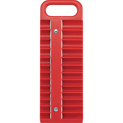 Strongway 1/4in.-Drive Magnetic Socket Holder — SAE and Metric, Red
