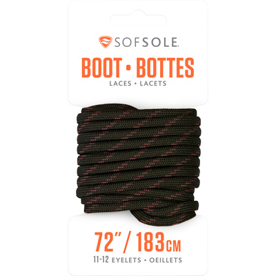 SOFSOLE Boot Laces - 60in., Black/Tan