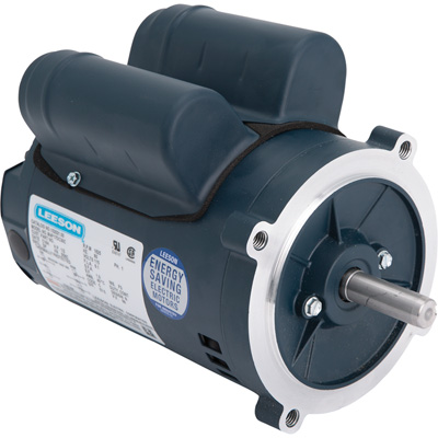 Leeson Instant Reversing Electric Motor 1/2 HP, 1,625 RPM, 115 Volts, Single Phase, Model# M4P17DC30