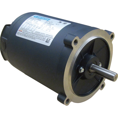 Leeson General Purpose Electric Motor — 1/2 HP, 208–230/460 Volts, 3 Phase, Model# C4T17NC46