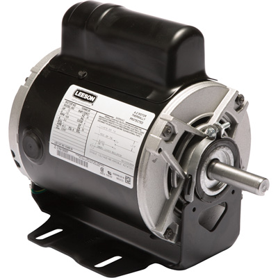 Leeson Instant Reversing Electric Motor 1/2 HP, 1,625 RPM, 115 Volts, Single Phase, Model# 5KCP35JNC128Y