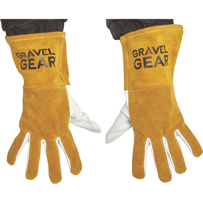 FREE SHIPPING — Gravel Gear TIG Welding Gloves — Large, White and Gold