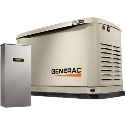 FREE SHIPPING — Generac Guardian Series Air-Cooled Home Standby Generator — 9 kW (LP)/8 kW (NG), 100 Amp Transfer Switch, Model# 7030