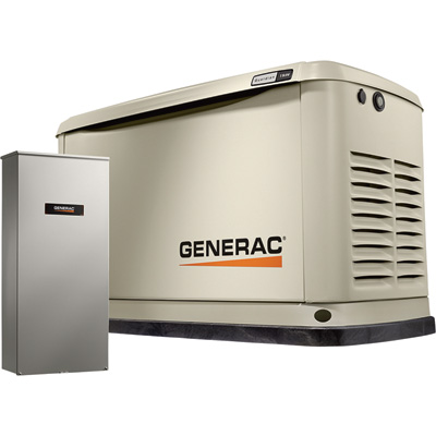 Generac Guardian Series Air-Cooled Home Standby Generator — 11 kW (LP)/10 kW (NG), 200 Amp Transfer Switch, Model# 7033