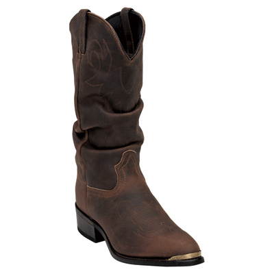 Durango 13in. Crumpled Distressed Slouch Western Boot — Tan, Size 11 Wide, Model# SW542
