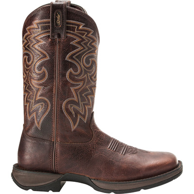 Durango Men's Rebel 11in. Pull-On Western Boots — Dark Chocolate, Size 12 Wide, Model# DB5434