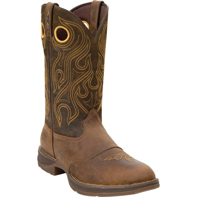 Durango Men's Rebel 12in. Saddle Western Boot - Brown, Size 9 Wide, Model# DB 5468
