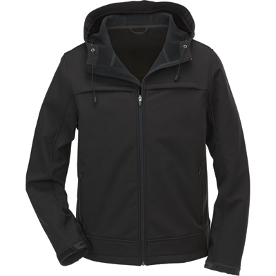 FREE SHIPPING Gravel Gear Men's Water-Resistant Soft Shell Jacket with Hood - XL