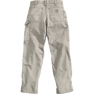 Carhartt Men's Canvas Work Dungaree - Tan, 38in. Waist x 36in. Inseam, Model# B151