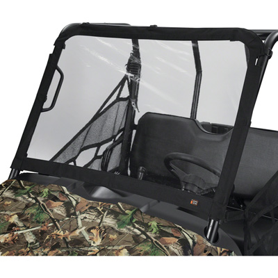 Classic Accessories QuadGear UTV Front Windshield — Black, Fits Yamaha, 50in. x 30.5in.