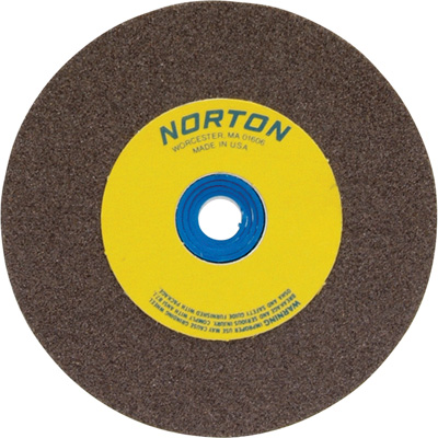 FREE SHIPPING — Norton Grinding Wheel — 6in. x 1in., Brown Aluminum Oxide, 60 Grit