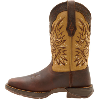 Durango Men's 11in. Wingman Western Pull-On Work Boots — Tan/Brown, Size 9, Model# DB5532