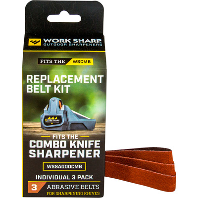 Work Sharp Combo Knife Sharpener Replacement Belt Kit — 3-Pk., For Use With Item# 54965, Model# WSSA000CMB