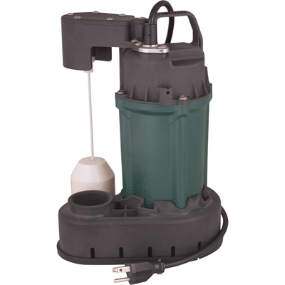 H2O Pro Self-Priming Cast Iron Submersible Sump Pump — 1/2 HP, 3000 GPH, 1 1/2in. Port, Model# 024489