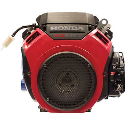 Honda V-Twin Horizontal OHV Engine with Electric Start – 688cc, GX Series, 5/16in. – 24 tap x 3in. taper, Model# GX630RVZA